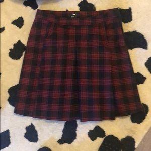 Plaid pleated skirt, never worn